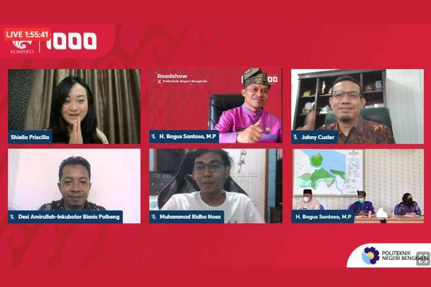Dosen Jurusan TI menjadi narasumber pada roadshow gerakan nasional 1000 startup digital dengan host Politeknik Negeri Bengkalis
